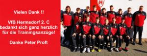 VfB Hermsdorf gesponsorte Trainingsanzüge